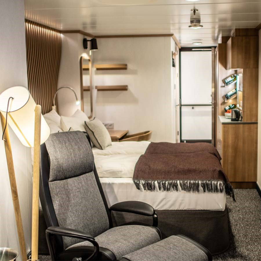 Cabin XT on MS Roald Amundsen and MS Fridtjof Nansen