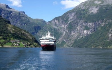 MS Nordnorge at Geiranger fjord