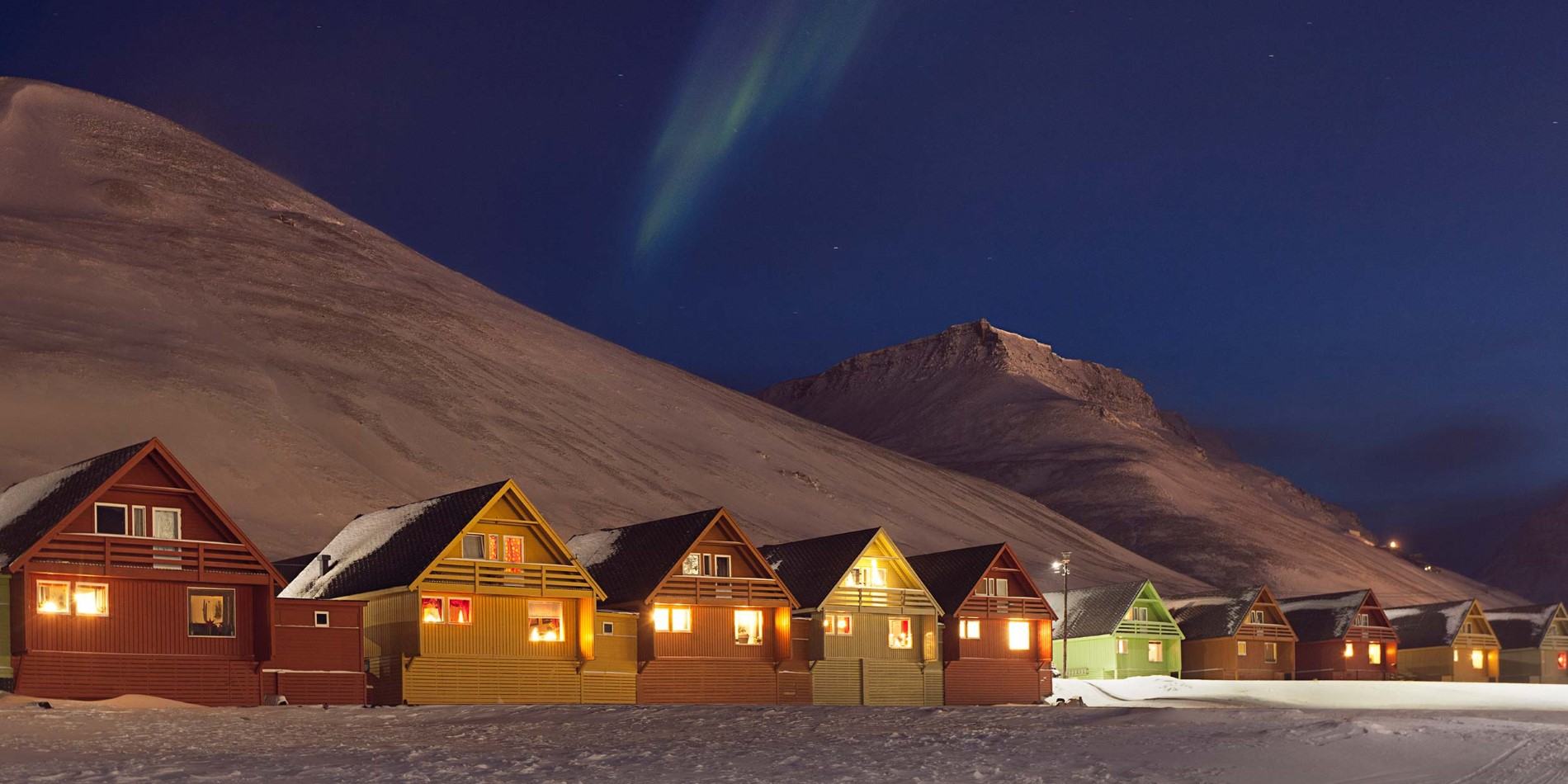Longyearbyen by night