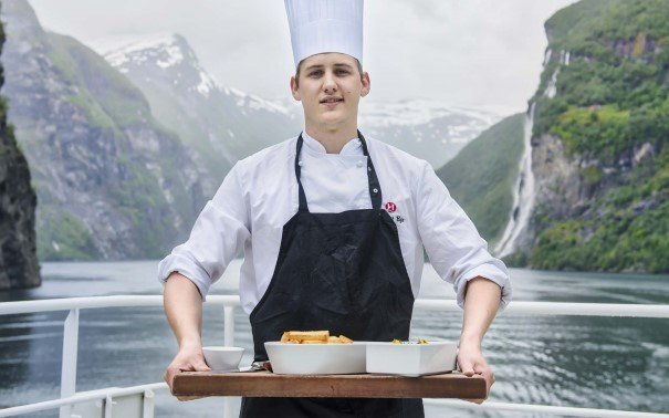 Enjoy world class food from Norway's Coastal Kitchen on board